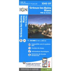 IGN Gréoux-les-Bains-Rians